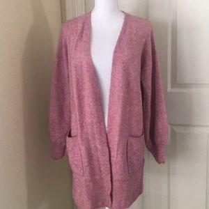 Madewell long cardigan wool blend size medium